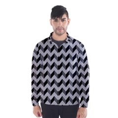 Modern Retro Chevron Patchwork Pattern  Wind Breaker (Men)