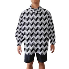 Modern Retro Chevron Patchwork Pattern  Wind Breaker (Kids)