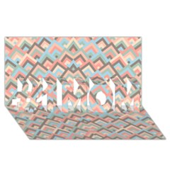 Trendy Chic Modern Chevron Pattern #1 Mom 3d Greeting Cards (8x4)