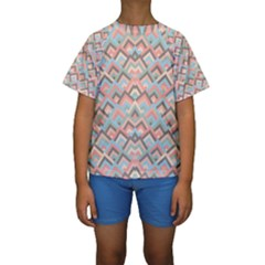 Trendy Chic Modern Chevron Pattern Kid s Short Sleeve Swimwear