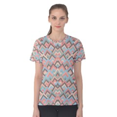 Trendy Chic Modern Chevron Pattern Women s Cotton Tee