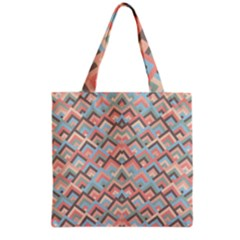 Trendy Chic Modern Chevron Pattern Grocery Tote Bags