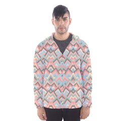 Trendy Chic Modern Chevron Pattern Hooded Wind Breaker (men)