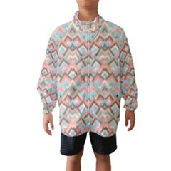 Trendy Chic Modern Chevron Pattern Wind Breaker (Kids)