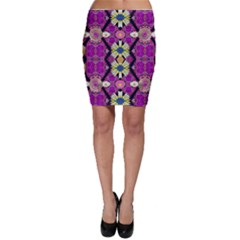 rose mandala  Bodycon Skirts