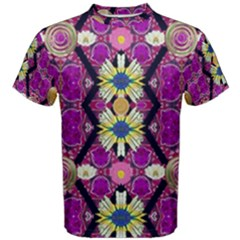 Rose Mandala  Men s Cotton Tees