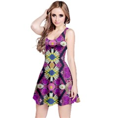 rose mandala  Reversible Sleeveless Dresses