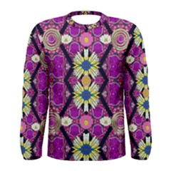 rose mandala  Men s Long Sleeve T-shirts