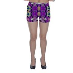 rose mandala  Skinny Shorts