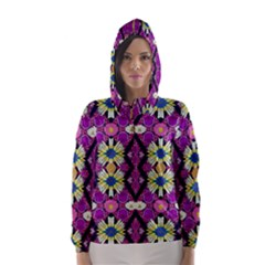 rose mandala  Hooded Wind Breaker (Women)