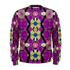 rose mandala  Men s Sweatshirts