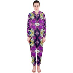 rose mandala  Hooded Jumpsuit (Ladies)