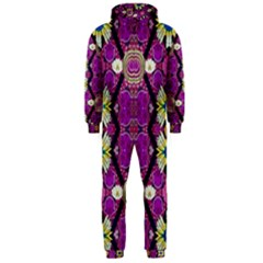 rose mandala  Hooded Jumpsuit (Men)