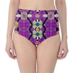 rose mandala  High-Waist Bikini Bottoms