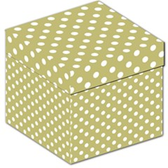 Lime Green Polka Dots Storage Stool 12
