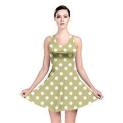 Lime Green Polka Dots Reversible Skater Dresses