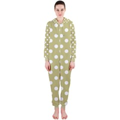 Lime Green Polka Dots Hooded Jumpsuit (Ladies)