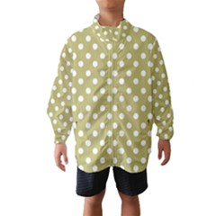 Lime Green Polka Dots Wind Breaker (Kids)