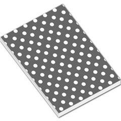 Gray Polka Dots Large Memo Pads