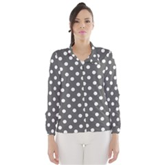 Gray Polka Dots Wind Breaker (Women)
