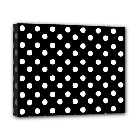 Black And White Polka Dots Canvas 10  x 8