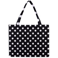 Black And White Polka Dots Tiny Tote Bags