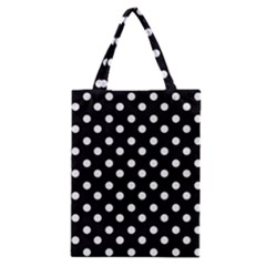 Black And White Polka Dots Classic Tote Bags