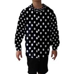 Black And White Polka Dots Hooded Wind Breaker (Kids)