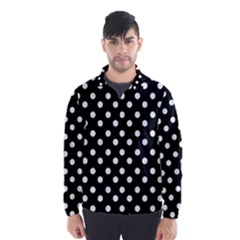 Black And White Polka Dots Wind Breaker (Men)