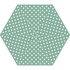 Mint Green Polka Dots Mini Folding Umbrellas