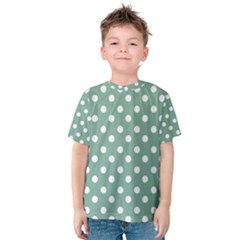 Mint Green Polka Dots Kid s Cotton Tee