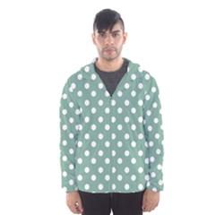 Mint Green Polka Dots Hooded Wind Breaker (Men)