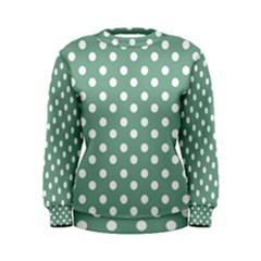 Mint Green Polka Dots Women s Sweatshirts