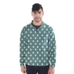 Mint Green Polka Dots Wind Breaker (Men)
