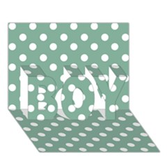 Mint Green Polka Dots BOY 3D Greeting Card (7x5)