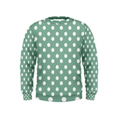 Mint Green Polka Dots Boys  Sweatshirts