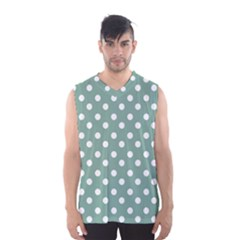 Mint Green Polka Dots Men s Basketball Tank Top