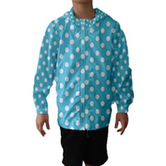 Sky Blue Polka Dots Hooded Wind Breaker (Kids)