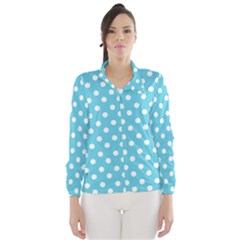 Sky Blue Polka Dots Wind Breaker (Women)