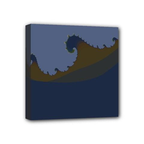Ocean Waves Mini Canvas 4  X 4