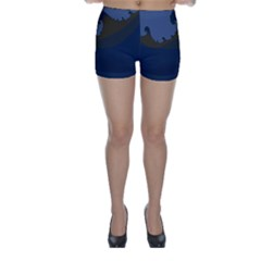 Ocean Waves Skinny Shorts