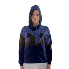 Ocean Waves Hooded Wind Breaker (Women)