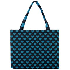 Blue Hearts Valentine s Day Pattern Tiny Tote Bags