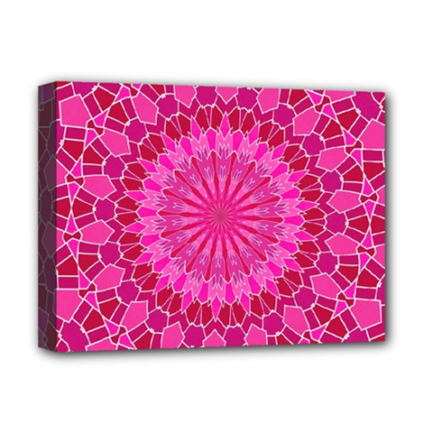 Pink and Red Mandala Deluxe Canvas 16  x 12
