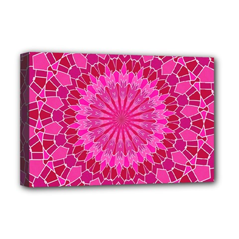 Pink and Red Mandala Deluxe Canvas 18  x 12