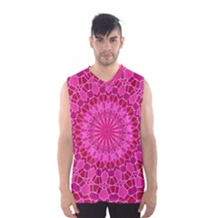 Pink and Red Mandala Men s Basketball Tank Top