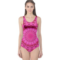 Pink and Red Mandala One Piece Swimsuit