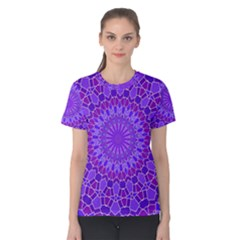 Purple Mandala Women s Cotton Tee