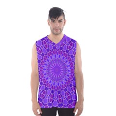 Purple Mandala Men s Basketball Tank Top