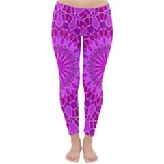 Purple and Pink Mandala Winter Leggings
